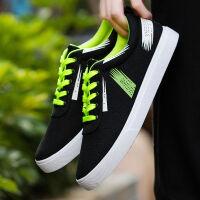 夏季透气男鞋青年帆布鞋子男生系带休闲鞋潮流学生鞋子男韩版板鞋