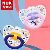 德国原装进口 NUK印花硅胶安抚奶嘴王(1号 0-6个月/2号 6-18个月) (单个卡装)