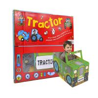 【首页抢券300-100】Convertible Tractor 变形大冒险车书 拖拉机 可组装立体变形折叠玩具书 大开