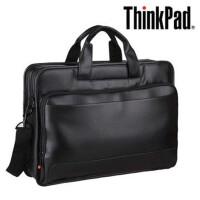 联想 商务手提皮包男士笔记本电脑包单肩背包旅行包 14寸/15寸全皮革红点包学生书包 TL410