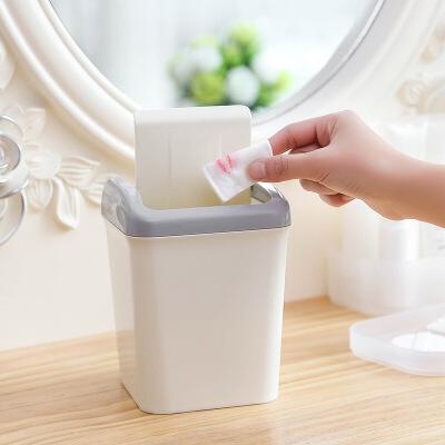 垃圾桶家用翻盖创意迷你桌面垃圾桶纸篓办公卧室杂物桶收纳垃圾筒 满68元包邮