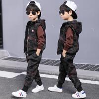 儿童装男童秋装套装冬季迷彩三件套