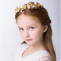 新款儿童时尚珍珠水晶发饰 新年皇冠发箍女童婚纱礼服配饰
