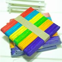 彩色雪糕棒 棒冰棍木条 雪条棒冰棒棍 冰淇淋棒DIY手工材料