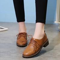 大东同款女鞋秋季新款单鞋女小皮鞋韩版学生系带休闲鞋罗马风