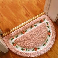 御目 地毯 可爱卧室客厅进门脚垫地垫半圆形地垫浴室厕所洗手间卫浴用品吸水防滑除尘门垫家居用品