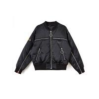 2018秋冬季新款韩版时尚羽绒服女短款轻薄修身白鸭绒外套 黑色