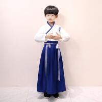 古代书生套装传统复古国学三字经演出服装儿童汉服男童古装秋冬款