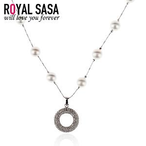 皇家莎莎项链 颈链锁骨链仿珍珠简约圆环女日韩国版时尚配饰品