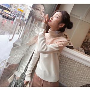 谜秀打底毛衣女秋冬装2017新款韩版修身chic高领针织衫上衣外套潮