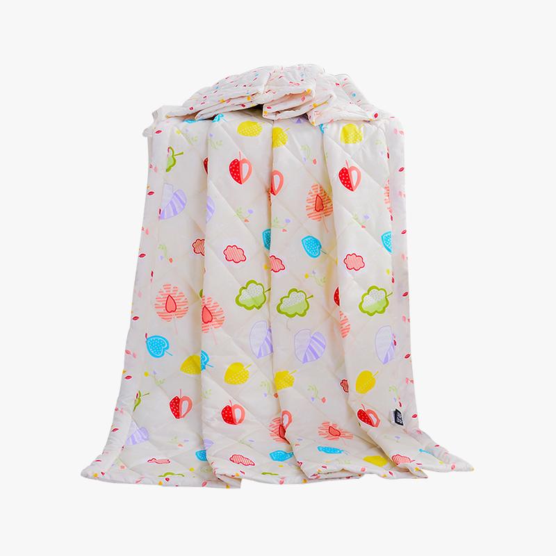 当当优品家纺 可水洗印花夏凉被 150x200双人空调被 草莓甜心黄当当自营 柔软透气 水洗机洗不变形