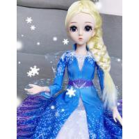 冰雪公主玩具奇缘2芭比洋娃娃套装艾莎爱莎玩偶大礼盒布