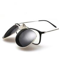 新款近视夹片男士可上翻墨镜女司机蛤蟆款偏光太阳镜夹片