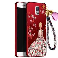 三星 s5手机壳 三星S5保护套 三星s5 g9008v 手机壳套 保护壳套 个性挂绳全包硅胶防摔彩绘软潮壳女款
