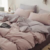 【】放心购 网红款全棉四件套夏季纯棉水洗棉被套床单人三件套北欧风床上用品