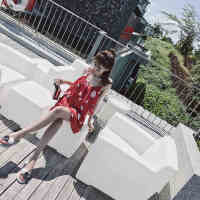 温泉泳衣女三件套 比基尼性感小胸聚拢保守遮肚显瘦韩国裙式泳装