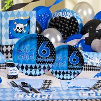 孩派 生日用品 派对用品套装 儿童生日用品 六岁男孩主题系列