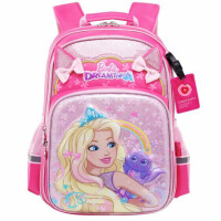 芭比书包 0415女小学生双肩包 粉色儿童背包 卡通休闲包 单个装