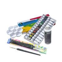马利牌 12色 18色 24色12ml丙烯颜料 防水手绘 墙绘绘画颜料套装