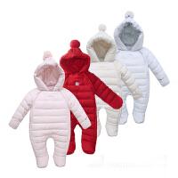 婴幼儿羽绒服连体衣爬服宝宝外出抱衣哈衣新生儿衣服