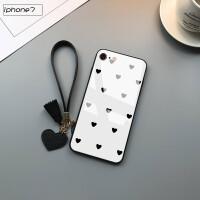 iphone7手机壳A1660个性4.7寸IP7苹果8镜面ipone7钢化a1778玻璃壳pg7平果