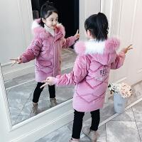 女童中长款棉衣儿童中大童冬季外套棉袄