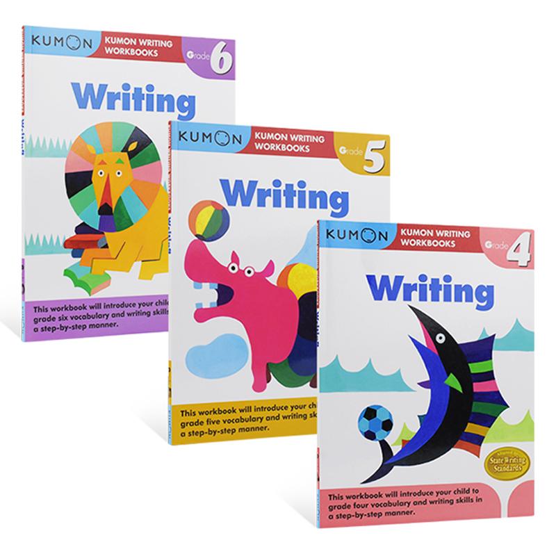 Kumon Writing Workbooks Writing Grade 4-6 公文式教育 写作  小学教辅四五六年级 9-12岁 英文原版图书进口