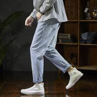 [2.5折价124.8元]唐狮2019春季新款牛仔裤男宽松哈伦男士直筒牛仔裤韩版潮流