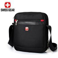 【iPad隔层】SWISSGEAR瑞士军刀单肩包 男士斜挎包休闲包商务时尚大容量背包