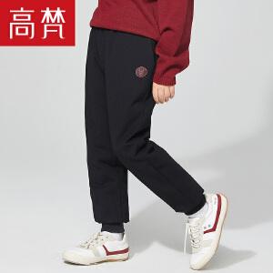 高梵童装2018新款儿童轻芯羽绒裤女童男童宝宝卫裤版型品牌正品