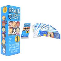 【首页抢券300-100】Brain Quest Grade 1 美国全科智力问答 大脑任务 bq问答卡 一年级 6-7