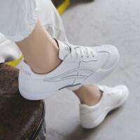 女运动休闲鞋韩版秋季女鞋新款2019小白鞋女圆头系带运动鞋女