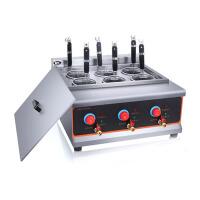 节能6头煮面炉商用电热煮锅煮面机不锈钢麻辣烫炉汤粉炉下面机