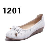 豆豆鞋女内增高女鞋单鞋浅口平底鞋圆头牛筋底透气妈妈鞋女鞋夏季
