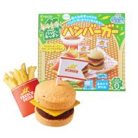 【满159包邮】日本知育果子 快乐厨房汉堡 22g 台湾美味无添加剂手工儿童汉堡 日本进口零食食玩一体