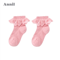 【活动价:14.5】安奈儿童装女童袜子年新款花边袜XG807647