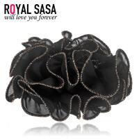 皇家莎莎RoyalSaSa手工布艺发圈时尚韩式盘发头花发绳发饰韩国扎马尾皮筋头绳