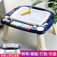 儿童画板涂鸦写字白板便携磁性小孩黑板可涂绘画本家用学习桌两用