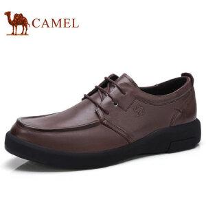 camel 骆驼男鞋 秋季新品复古打蜡皮柔软防滑商务休闲皮鞋