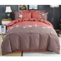 全棉加厚磨毛四件套纯棉家纺床单被套2床上用品秋冬反季 被套220*240 床单245*270