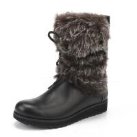 【国内现货】Clarks/其乐女鞋2017秋冬新款皮毛一体保暖时尚雪地靴Minx Jeanie专柜正品直邮