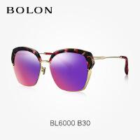 暴龙正品半框墨镜女2016新款 气质优雅偏光太阳眼镜潮BL6000