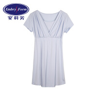 安莉芳家居服睡衣女士莫代尔短袖睡裙性感大码宽松舒适家居睡衣EL7729