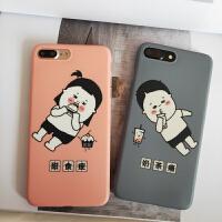 苹果xsmax情侣卡通手机壳iphone6s可爱保护套7/8plus简约新xr