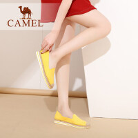 骆驼牌女鞋夏季透气软底休闲鞋女浅口平底女单鞋乐福鞋懒人鞋