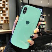 简约爱心xsmax手机壳苹果x/xr防摔椭圆7plus硅胶iphone8/6s软壳8x