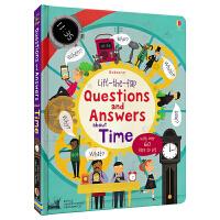 【首页抢券300-100】Usborne 原版英文 Questions & about Time 问与答百科翻翻书 时间