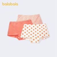 巴拉巴拉儿童内裤棉质平角女童短裤中大童小童舒适可爱大方3条装