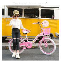 折叠儿童自行车女孩男20/22寸小学生单车