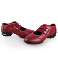 舒适系带舞蹈鞋爵士体操坡跟 护士鞋广场舞鞋